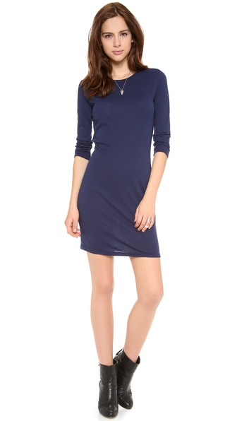 Daftbird Elbow Sleeve Mini Dress