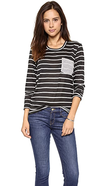 Daftbird Striped Pocket Tee