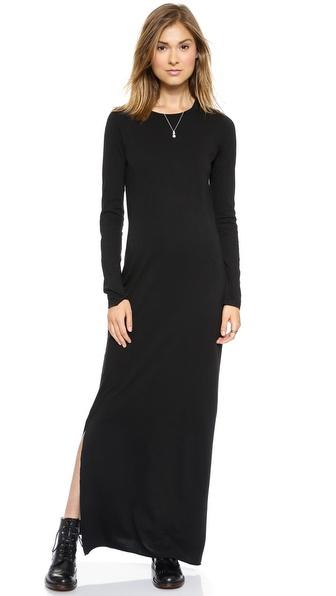 Daftbird Long Sleeve Maxi Dress with Slit
