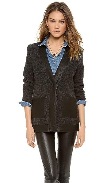 Dagmar Emiko Leather Trim Jacket