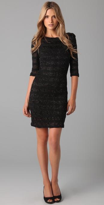Dallin Chase Tano Lurex Striped Dress