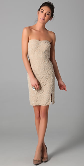 Dallin Chase Irving Strapless Lace Dress