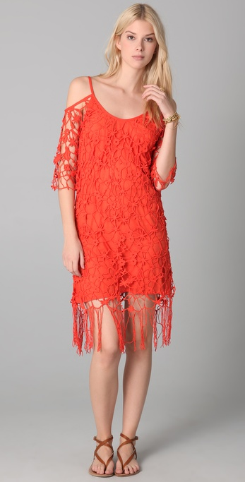 Dallin Chase Ariel Fringed Crochet Dress