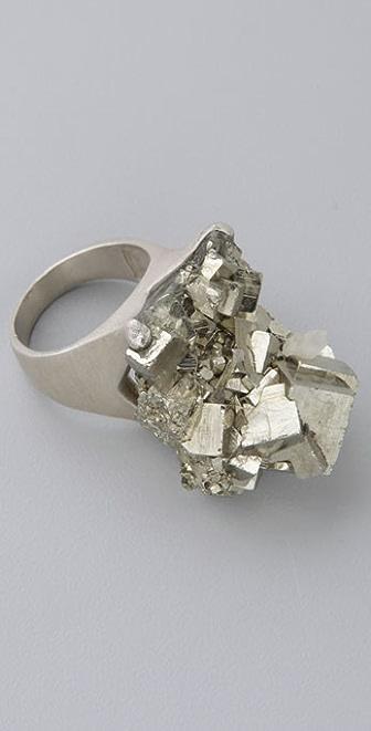 DANNIJO Rocco Pyrite Ring