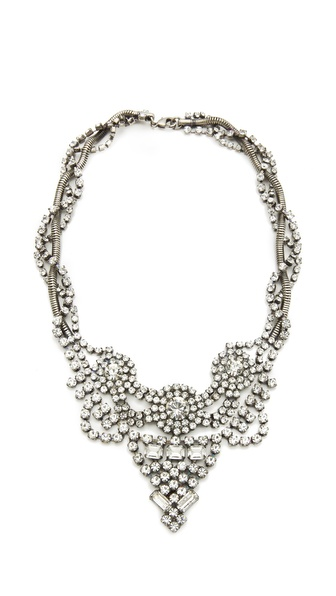 DANNIJO Vala Clear Crystal Necklace