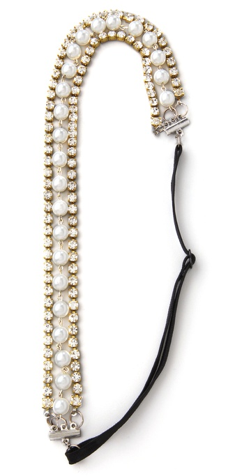 Dauphines Of New York The One Headband - Silver at Shopbop / East Dane