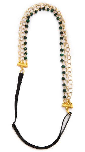 Dauphines Of New York All A Dream Headband - Emerald/Pearl at Shopbop / East Dane