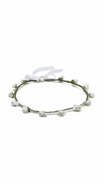 Dauphines Of New York Bed Of Roses Headband - White at Shopbop / East Dane