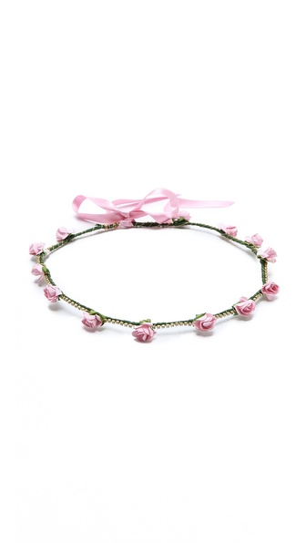 Dauphines Of New York Bed Of Roses Headband - Pink at Shopbop / East Dane