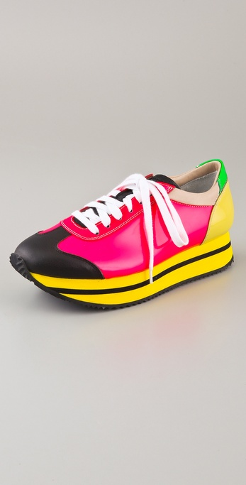 Ruthie Davis Joggie Lace Up Retro Sneakers