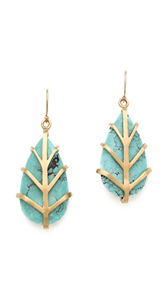 Dean Davidson Small Leaf Earrings