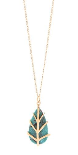 Dean Davidson Small Leaf Pendant Necklace