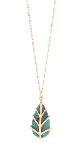 Dean Davidson Small Leaf Pendant Necklace