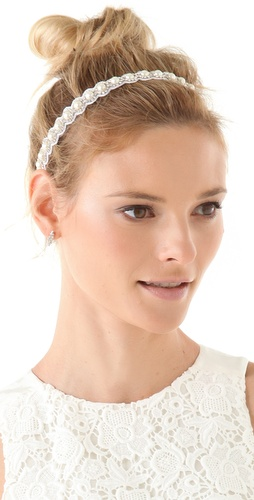 Deepa Gurnani Crystal & Pearl Headband