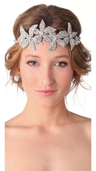 Deepa Gurnani Floral Crystal Headband