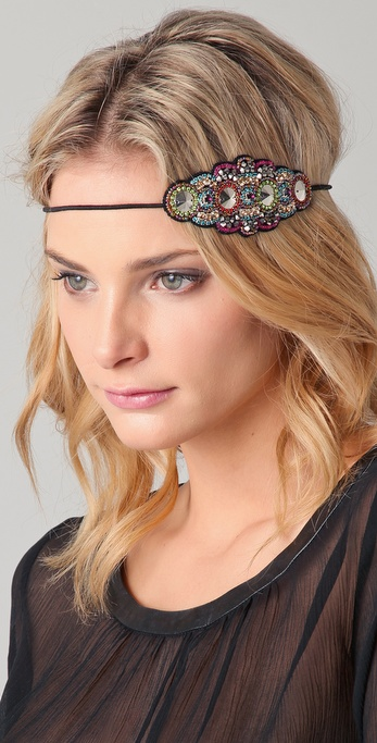 Deepa Gurnani Multi Crystal Applique Headband