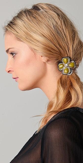 Deepa Gurnani Flower Beaded Hair Tie