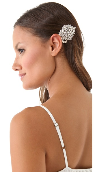 Deepa Gurnani Crystal Bouquet Hair Clip