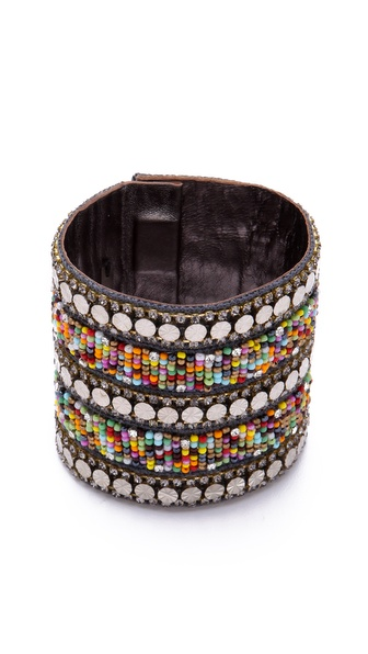 Deepa Gurnani Multicolor Beaded Cuff