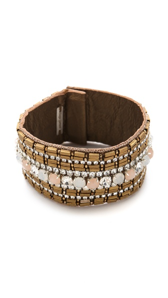 Deepa Gurnani Embellished Metallic Cuff