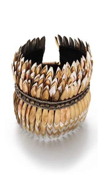 Deepa Gurnani Metallic Petal Cuff