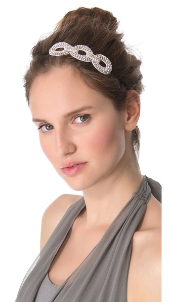 Deepa Gurnani Crystal Link Applique Headband
