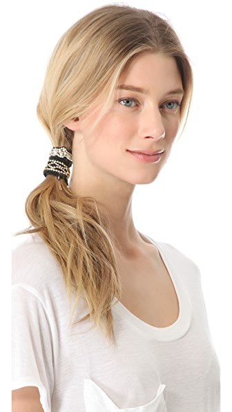 Deepa Gurnani Black Ponette Hair Tie Set