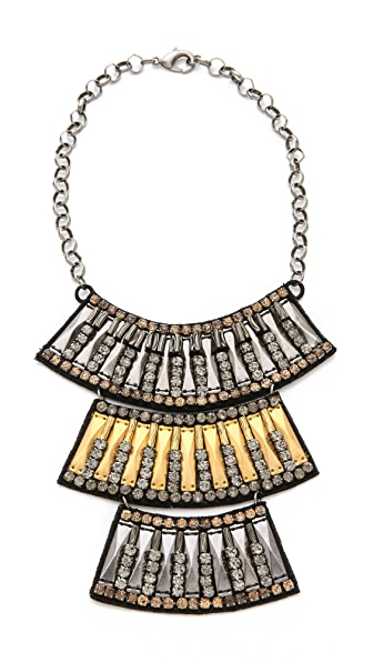 Deepa Gurnani Panel Layered Necklace