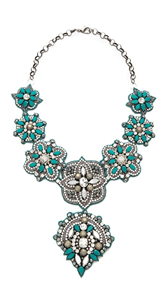 Deepa Gurnani Embellished Pendant Necklace