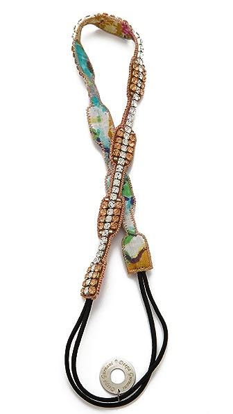 Deepa Gurnani Crystal Rectangle Headband