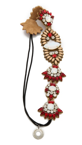 Deepa Gurnani Colorful Crystal Headband