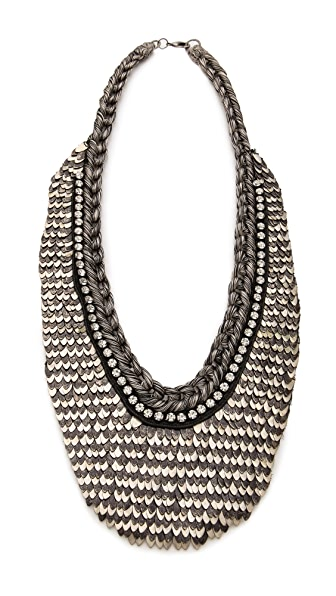Deepa Gurnani Two Tone Armor Necklace