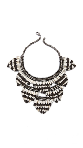 Deepa Gurnani Layered Petal Necklace