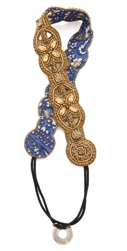 Deepa Gurnani Circular Crystal Headband at Shopbop / East Dane