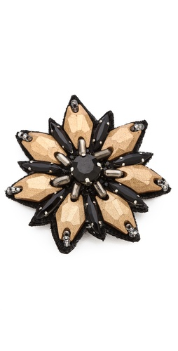 Deepa Gurnani Flower Stone Hair Clip at Shopbop / East Dane