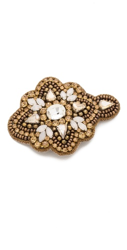 Deepa Gurnani Applique Crystal Flower Hair Clip at Shopbop / East Dane