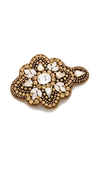 Deepa Gurnani Applique Crystal Flower Hair Clip