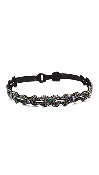 Deepa Gurnani Crystal Infinity Link Belt