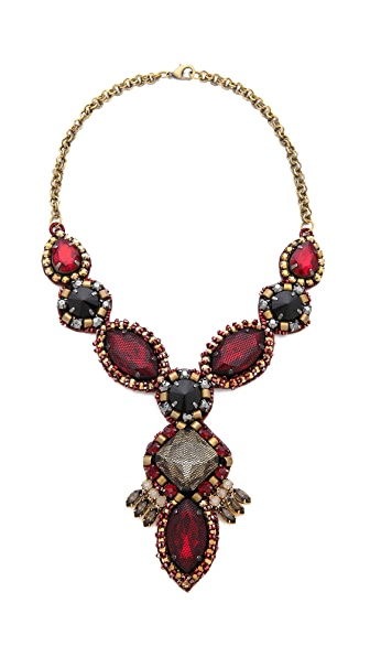 Deepa Gurnani Ruby Drop Necklace