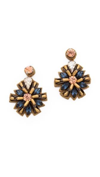 Deepa Gurnani Firework Crystal Earrings