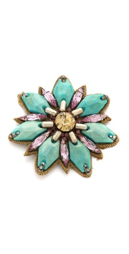 Deepa Gurnani Flower Hair Clip at Shopbop / East Dane
