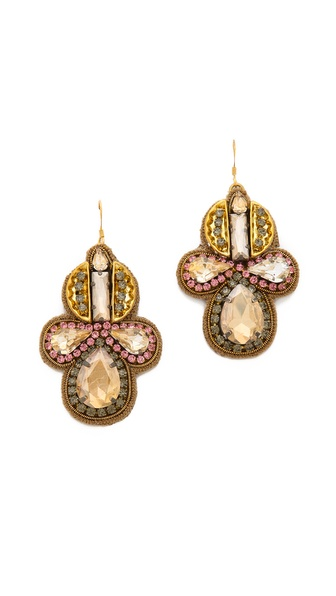 Deepa Gurnani Shining Crystal Earrings