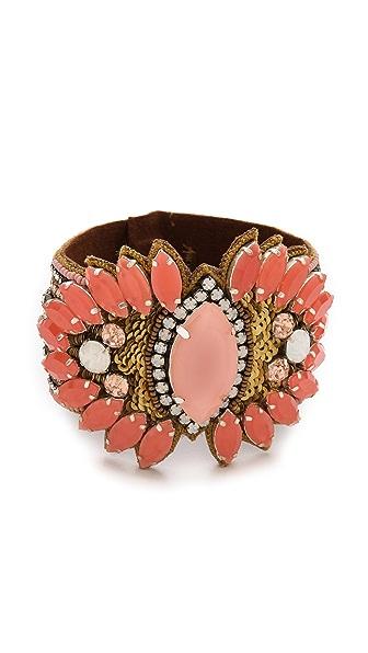 Deepa Gurnani Statement Stone Cuff Bracelet