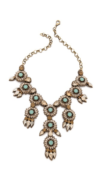 Deepa Gurnani Nobel Crystal Necklace
