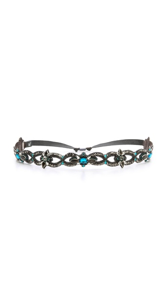 Deepa Gurnani Open Loop Crystal Belt