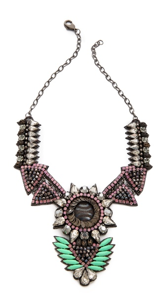 Deepa Gurnani Crystal Statment Drop Necklace