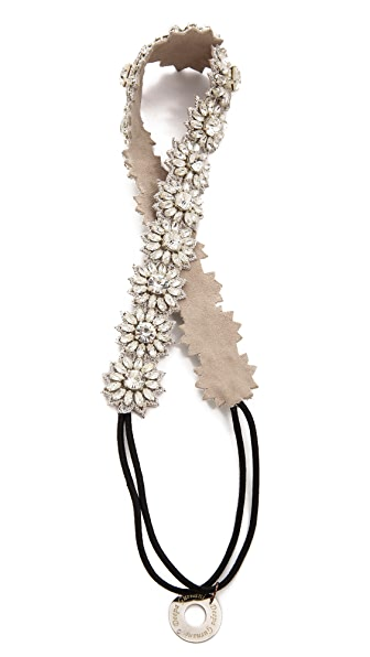 Deepa Gurnani Crystal Flower Headband