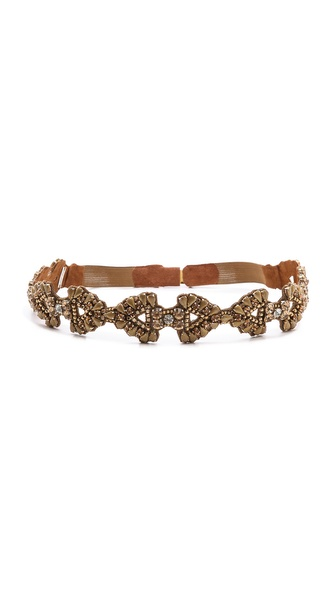 Deepa Gurnani Crystal Encrusted Belt