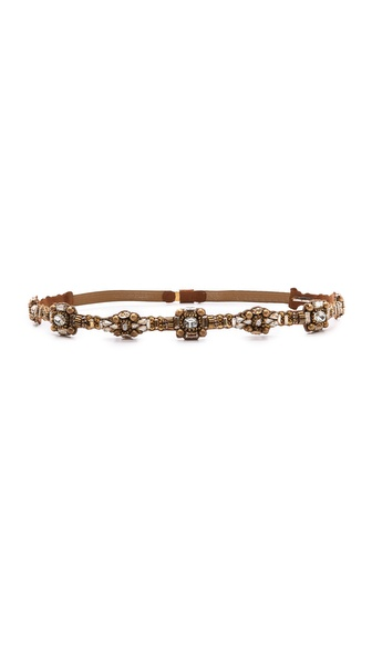Deepa Gurnani Crystal Statement Belt