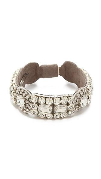 Deepa Gurnani Crystal Circle Bracelet
